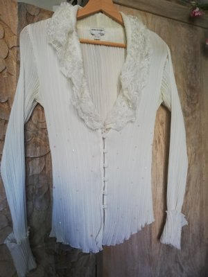Ashley Brooke Lace Blouse cream