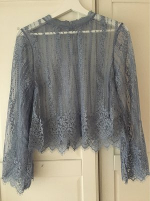 H&M Divided Lace Blouse azure