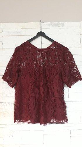 H&M Koronkowa bluzka bordo