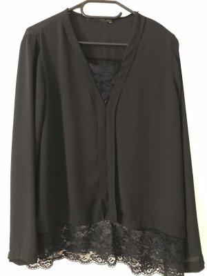 Zara Basic Blouse en dentelle noir