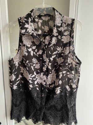 Tally Weijl Koronkowa bluzka czarny-jasny różowy