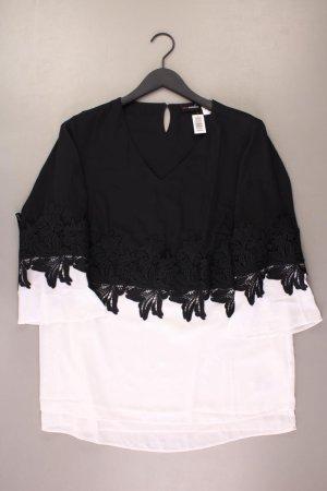 Koronkowa bluzka czarny Poliester