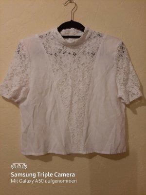 0039 Italy Blusa de encaje blanco