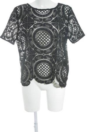 Koronkowa bluzka czarny W stylu casual