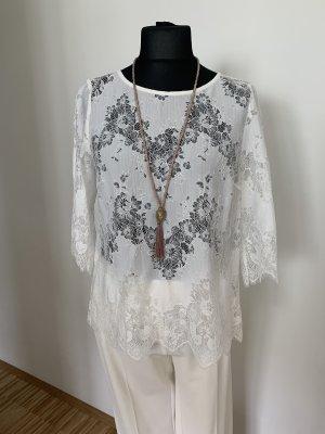 Spitzenbluse / Shirt mit 3/4 Arm Gr.40