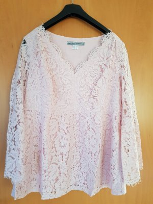 Ashley Brooke Lace Blouse light pink