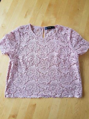 Hallhuber Lace Blouse dusky pink viscose