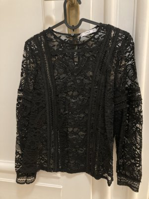 Mango Lace Blouse black