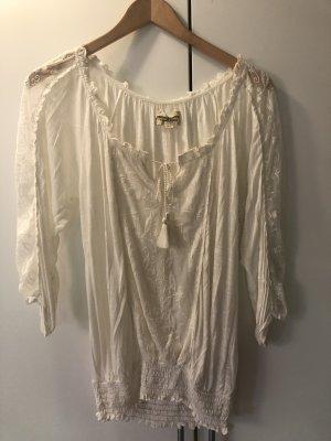 Denim & Supply Ralph Lauren Koronkowa bluzka w kolorze białej wełny