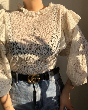 Zara Blouse en dentelle blanc