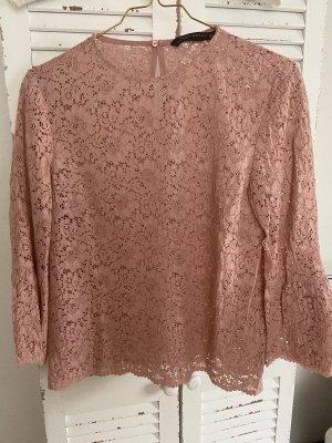 Zara Blusa in merletto color oro rosa