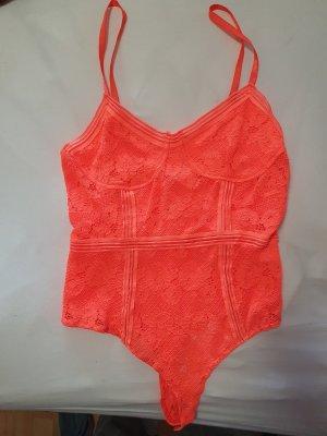 SassyClassy Body koszulowe pomarańczowy neonowy