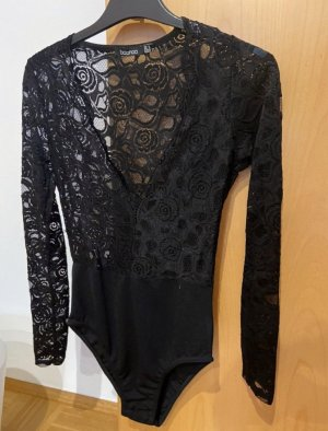 Boohoo Lace Top black