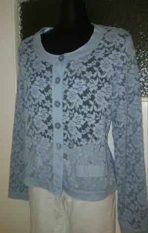 Street One Szydełkowany sweter Wielokolorowy Tkanina z mieszanych włókien
