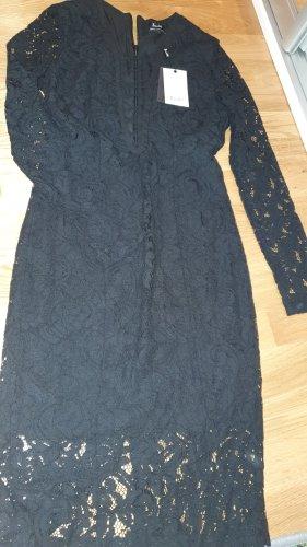 Bardot Lace Dress black lace