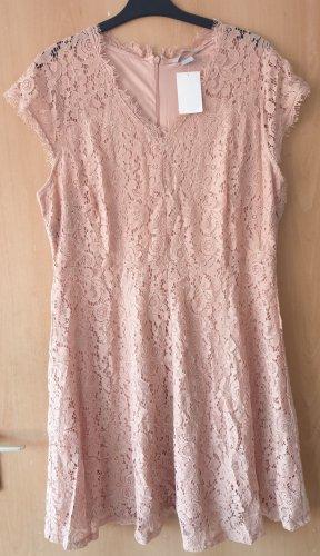 H&M Robe en dentelle rosé