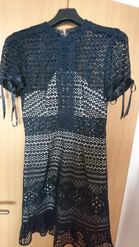 Chi Chi London Lace Dress oatmeal-dark blue