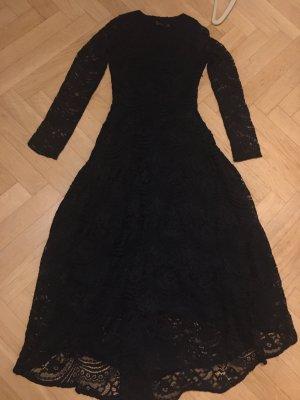 Anonyme Designers Kanten jurk zwart