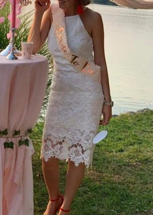 1 brand Vestido de encaje blanco