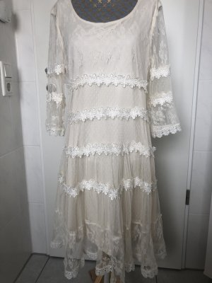 Choklate Vestido Hippie blanco puro-crema
