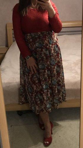 Spitzenkleid Blusenkleid Chiffon mit Blumenprint