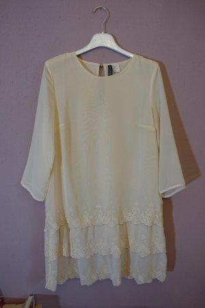 Spitzenkleid, Boho, Bohemian, helles Kleid, Spitze, Vintagestyle, Rüschen, Volants, wie neu!