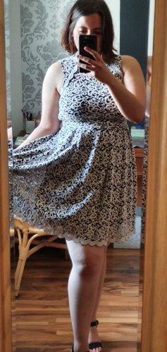 Orsay Koronkowa sukienka kremowy-czarny