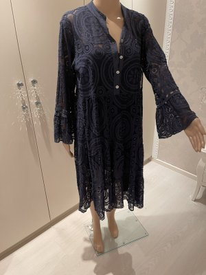 Made in Italy Lace Dress dark blue
