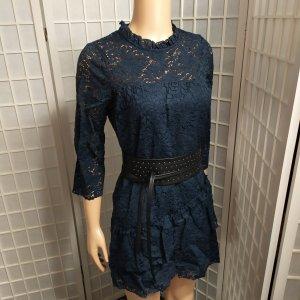Spitzenkleid Freizeitkleid mit Rüschen Vintage- Style Zara S