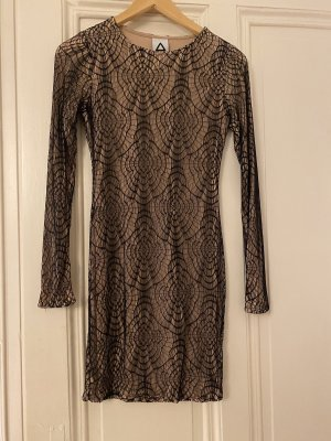 Aqua Lace Dress black-nude