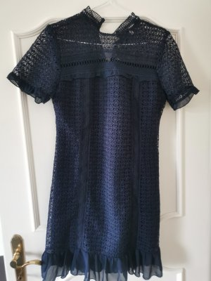 ADIVA Lace Dress blue-dark blue polyester