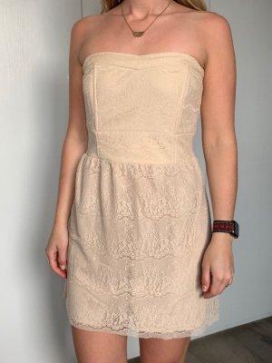 Sukienka gorsetowa kremowy