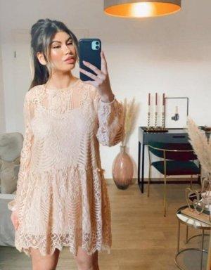 Boutique Comtesse Koronkowa sukienka kremowy