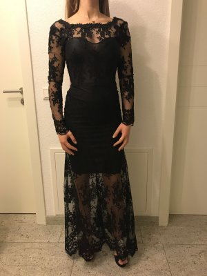 Spitzenkleid in schwarz elegant