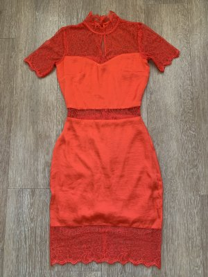 Spitzenkleid Kleid rot Abendkleid Partykleid Asos