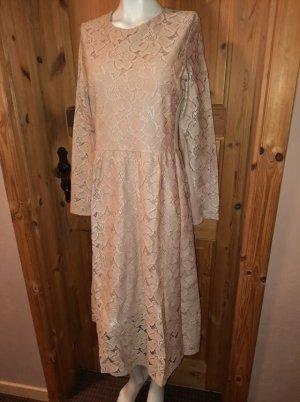 Spitzenkleid *Midikleid * Festliches Kleid * Verspieltes Kleid * zart rosa