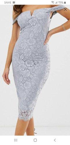 AX Paris Robe en dentelle gris clair-argenté polyester