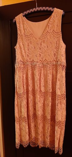 C&A Lace Dress rose-gold-coloured
