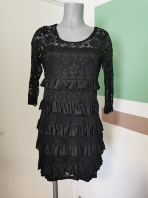 b.p.c. Bonprix Collection Lace Dress black polyester