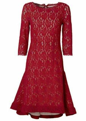 Spitzenkleid Rot 42 L XL elegant Neu Vokuhila