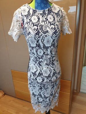 Club L Lace Dress white-dark blue