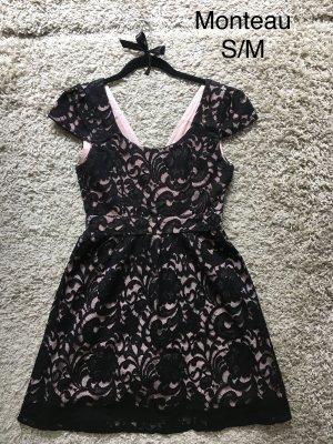 Spitzenkleid (schwarz&rosa) M