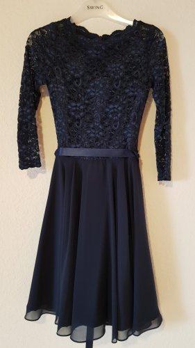 Swing Lace Dress dark blue