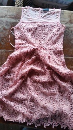 C&A Koronkowa sukienka stary róż