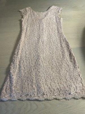 Diane von Furstenberg Vestido de encaje nude tejido mezclado