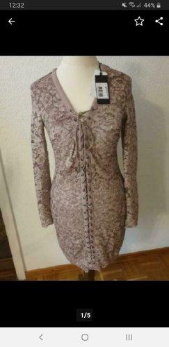 Guess Koronkowa sukienka stary róż-bladofiołkowy