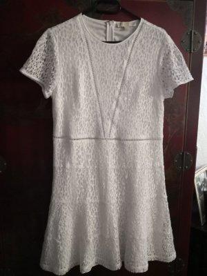 Michael Kors Vestido de encaje blanco