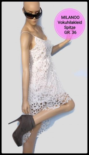 Milanoo High Low Dress white