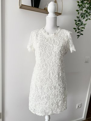 Zara Lace Dress cream-white