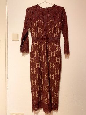 8 BY YOOX Kanten jurk bordeaux